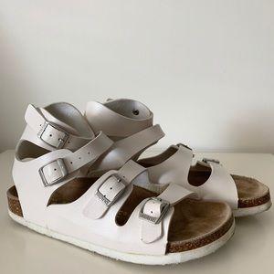 Brownstone White Gladiator Sandals